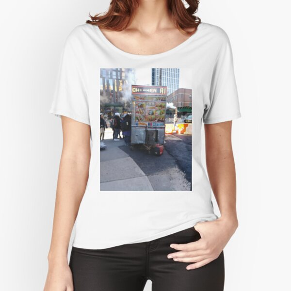 New York City, Manhattan, New York, downtown, #NeeYorkCity, #Manhattan, #NeeYork, #downtown, #buildings, #streets, #avenues, #skyscrapers, #cars, #pedestrians Relaxed Fit T-Shirt