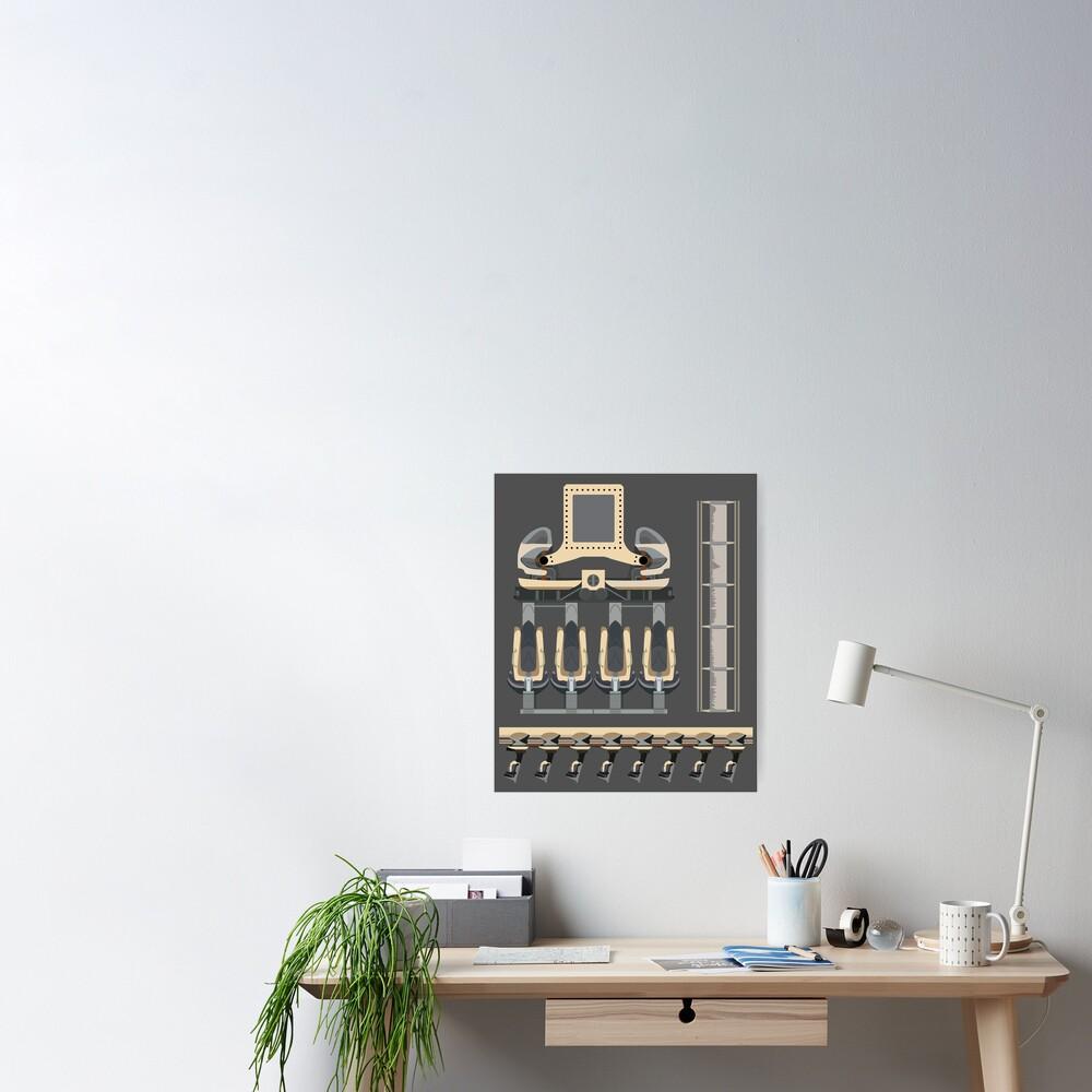 Nemesis Rollercoaster Alton Towers Blueprint Design Poster