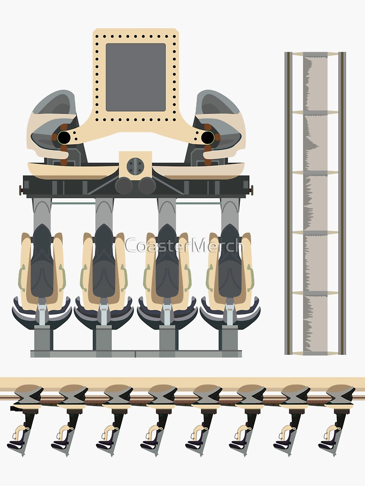 Nemesis Rollercoaster Alton Towers Blueprint Design by CoasterMerch