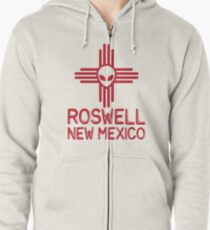Roswell New Mexico Zipped Hoodie
