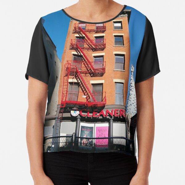 New York City, Manhattan, New York, downtown, #NeeYorkCity, #Manhattan, #NeeYork, #downtown, #buildings, #streets, #avenues, #skyscrapers, #cars, #pedestrians Chiffon Top