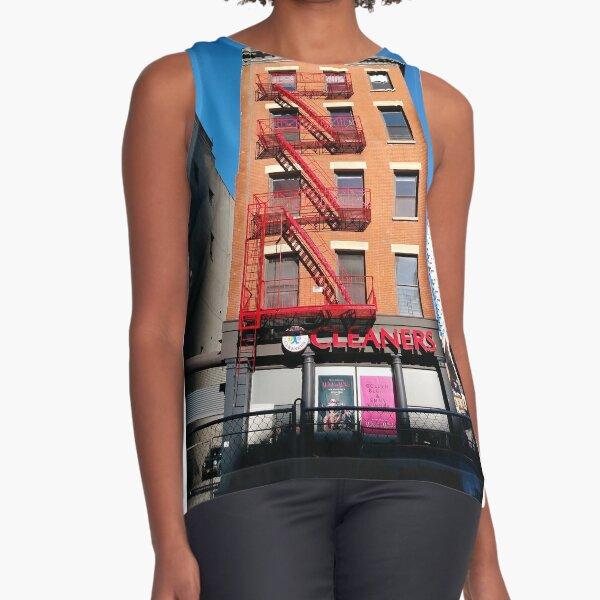 New York City, Manhattan, New York, downtown, #NeeYorkCity, #Manhattan, #NeeYork, #downtown, #buildings, #streets, #avenues, #skyscrapers, #cars, #pedestrians Sleeveless Top