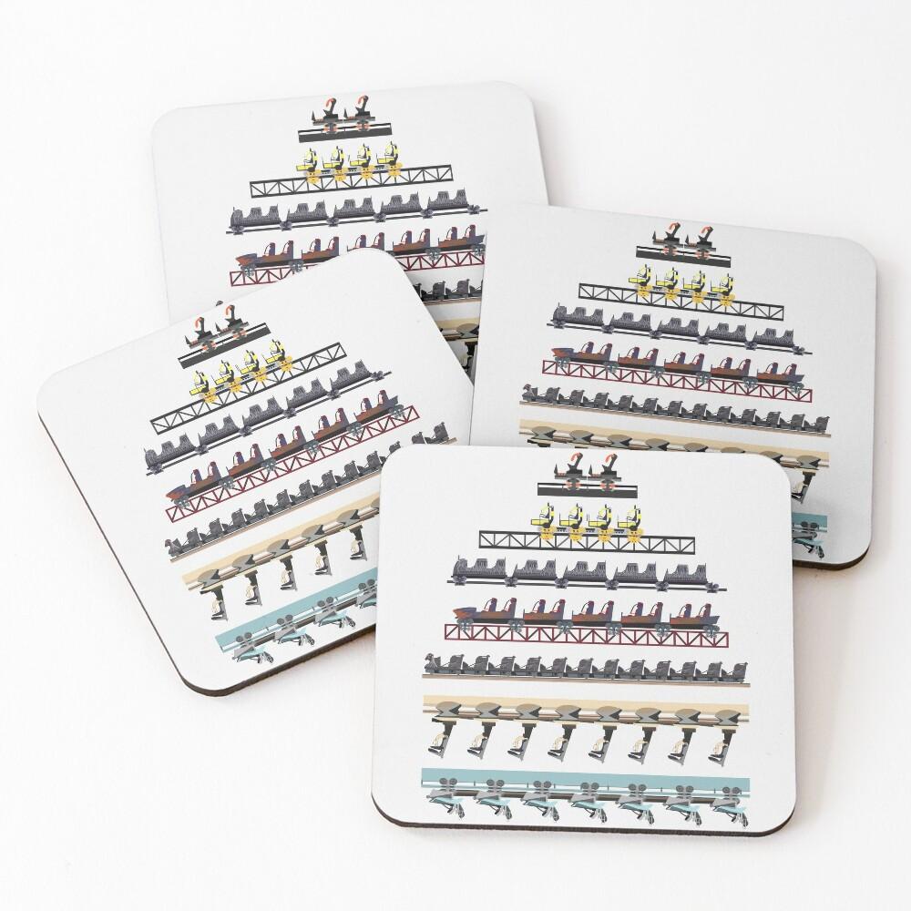 Alton Towers Coaster Trains Design Coasters (Set of 4)