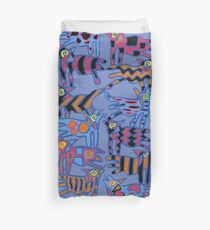 Colorful Abstract Coyote Duvet Cover