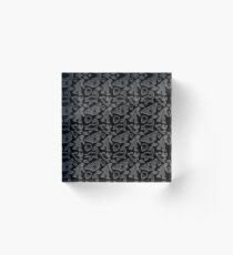Cryptid Pattern lines White Acrylic Block