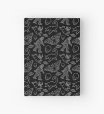 Cryptid Pattern lines White Hardcover Journal