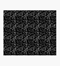 Cryptid Pattern lines White Photographic Print