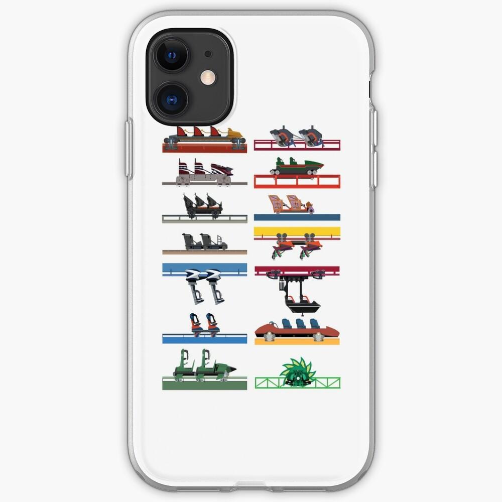 Six Flags Magic Mountain Coaster Cars Design iPhone Case & Cover
