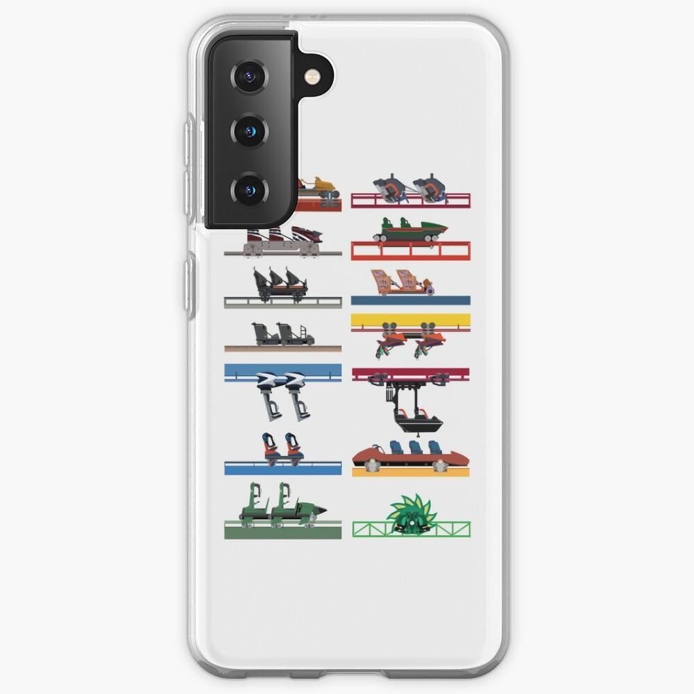 Six Flags Magic Mountain Coaster Cars Design Case & Skin for Samsung Galaxy