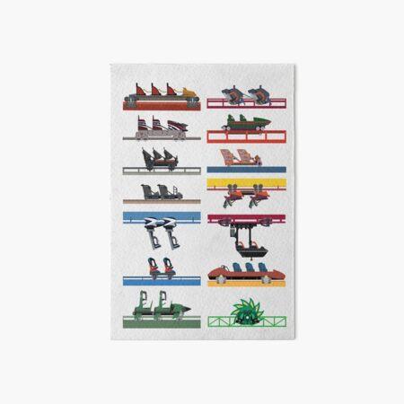Six Flags Magic Mountain Coaster Cars Design Art Board Print