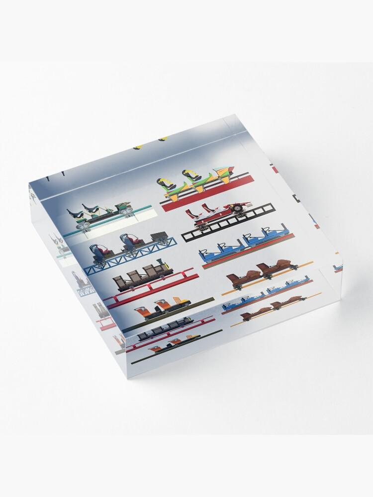 Alternate view of PortAventura Coaster Cars Design - Ferrari Land and Port Aventura Acrylic Block