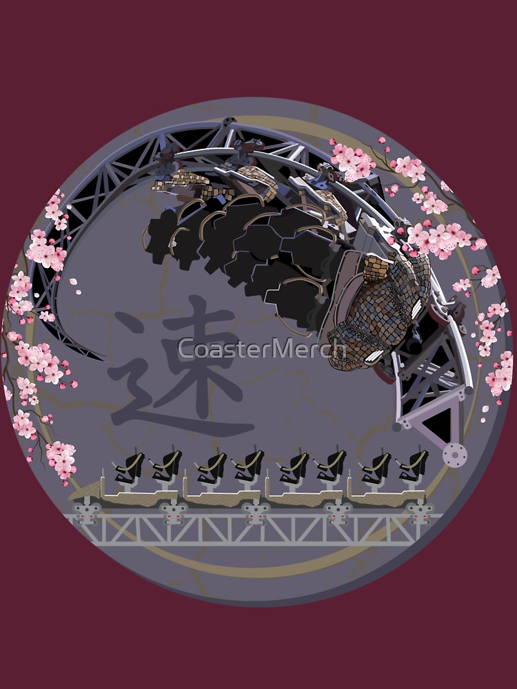 ICON The Ride - Blackpool Pleasure Beach - Cherry Blossoms and Hand-Drawn Art Design by CoasterMerch