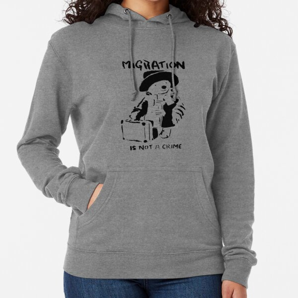 Banksy - Migration Is Not A Crime Lightweight Hoodie