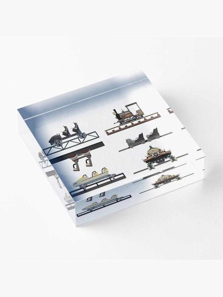 Alternate view of Phantasialand Coaster Cars Design Acrylic Block