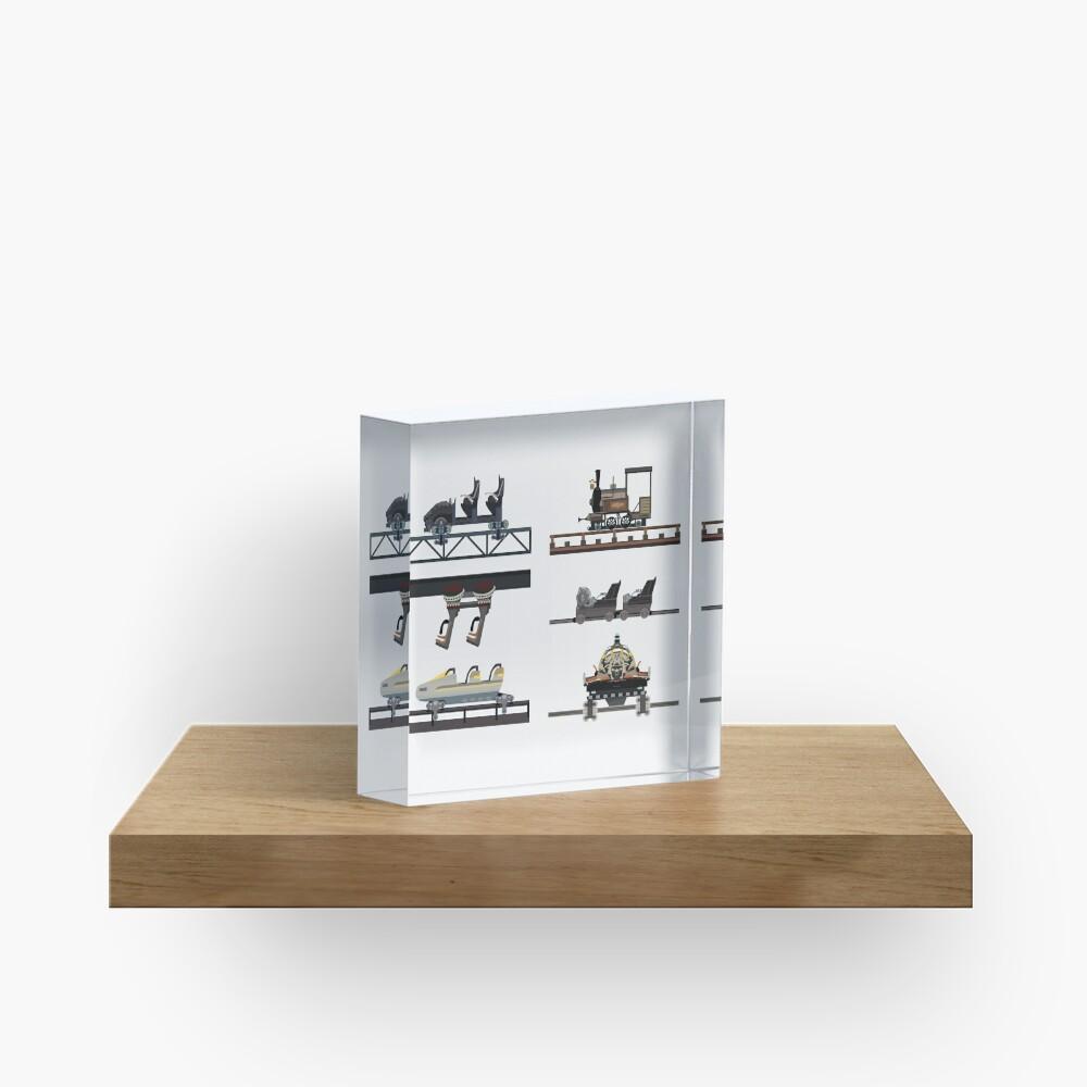 Phantasialand Coaster Cars Design Acrylic Block