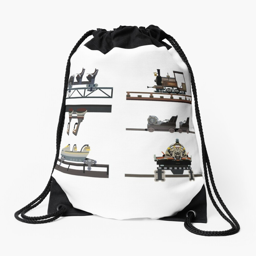 Phantasialand Coaster Cars Design Drawstring Bag