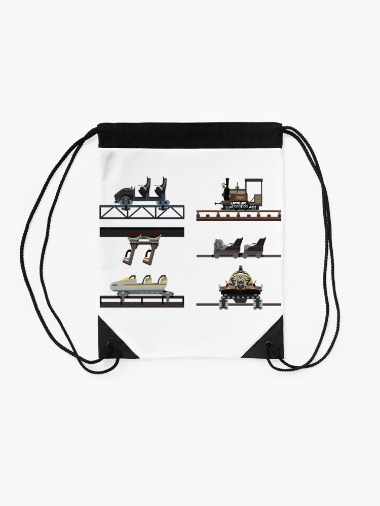Alternate view of Phantasialand Coaster Cars Design Drawstring Bag