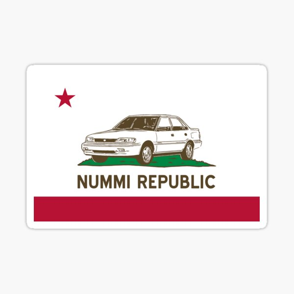 NUMMI Republic - State of Sedan Sticker