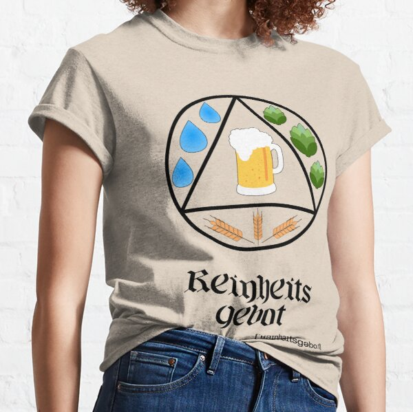 German Beer Purity Law Reinheitsgebot Circle Design for Light Classic T-Shirt