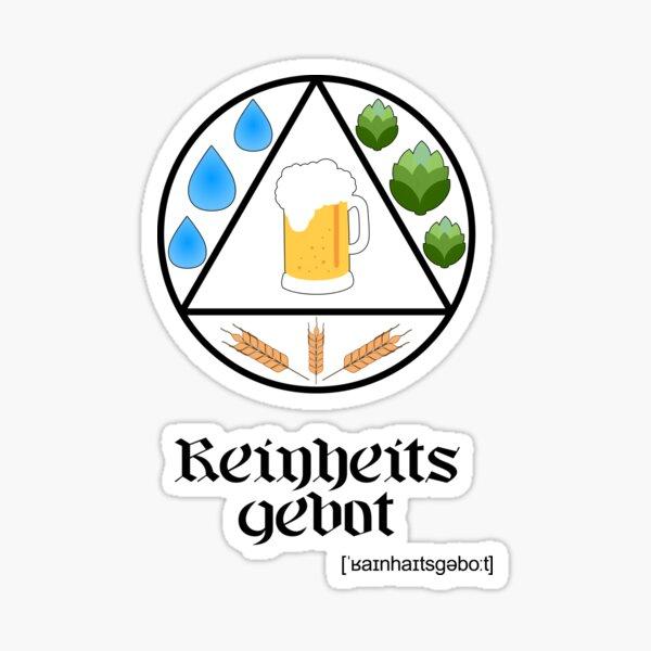 German Beer Purity Law Reinheitsgebot Circle Design for Light Sticker
