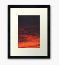 California Desert Sunset Framed Print