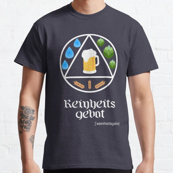 German Beer Purity Law Reinheitsgebot Circle Design Classic T-Shirt