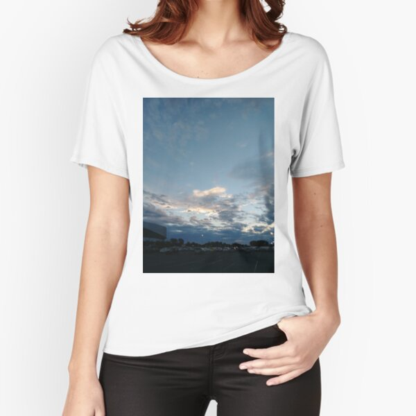 New York City, Manhattan, New York, downtown, #NeeYorkCity, #Manhattan, #NeeYork, #downtown, #buildings, #streets, #avenues, #skyscrapers, #cars, #pedestrians #Evening Relaxed Fit T-Shirt