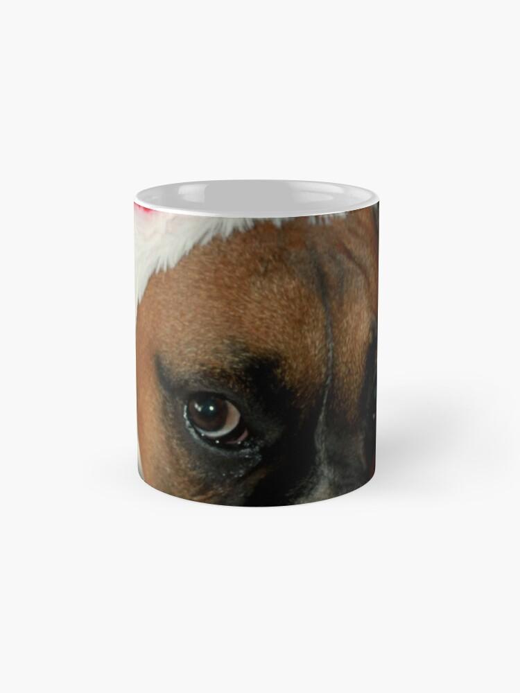 Alternative Ansicht von Dino ~ Santas kleiner Helfer ~ Boxer Dog Series Tasse (Standard)