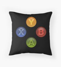 Xbox Buttons Black Throw Pillow