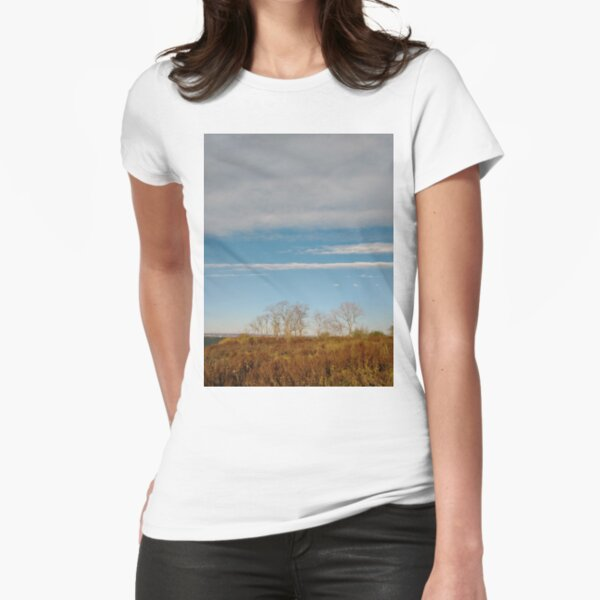 New York City, Manhattan, New York, downtown, #NeeYorkCity, #Manhattan, #NeeYork, #downtown, #buildings, #streets, #avenues, #skyscrapers, #cars, #pedestrians #Trees #Plants Fitted T-Shirt