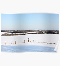 Snowy landscape Poster
