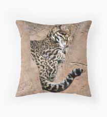 Ocelot Throw Pillow