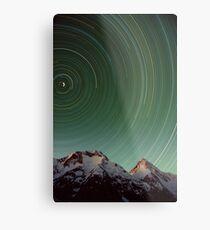 Star Trail, Inylchek Glacier, Kyrgyzstan Metal Print