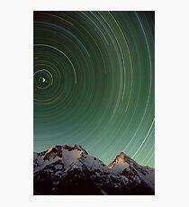 Star Trail, Inylchek Glacier, Kyrgyzstan Photographic Print