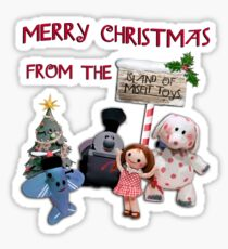 Merry Christmas from the Island of Misfit Toys Sticker