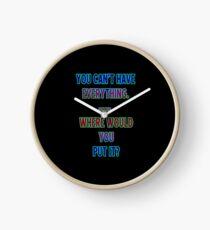 """Funny One-Liner """"Hoarding"""" Joke Clock"""