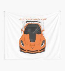 Corvette C7 ZR1 - Orange Wall Tapestry