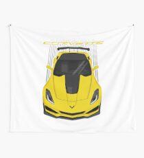 Corvette C7 ZR1 - Yellow Wall Tapestry