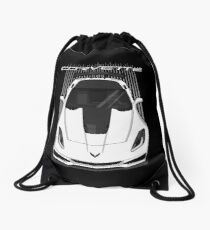 Corvette C7 ZR1 - White Drawstring Bag