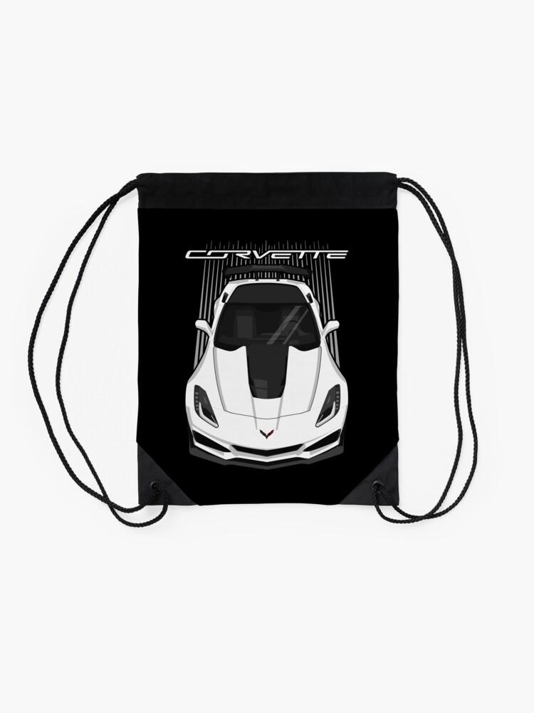Alternate view of Corvette C7 ZR1 - White Drawstring Bag
