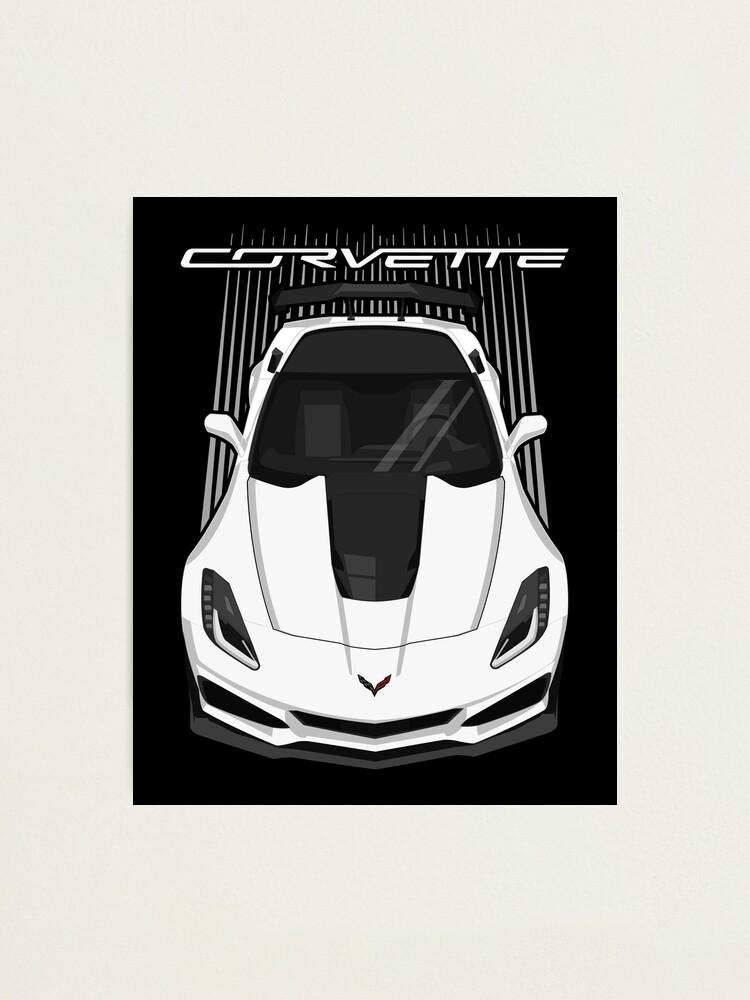 Alternate view of Corvette C7 ZR1 - White Photographic Print