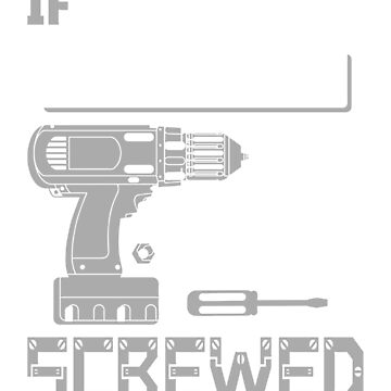 If [Custom Name] Can't Fix it We're All Screwed Stencil Grey by grouppixel