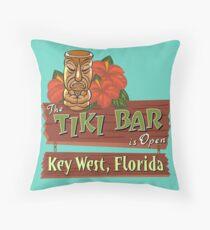 Key West Florida Tiki Bar Floor Pillow