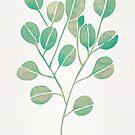 Silberner Dollar-Eukalyptus - Minze-Palette von Cat Coquillette