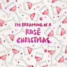 Rosé Weihnachten - Glasmuster von Cat Coquillette