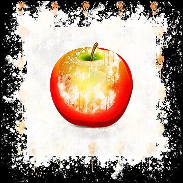 Apple colour food watercolor painted by VincentW91