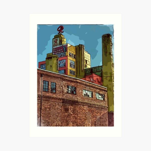 Rainier Beer building in Seattle Wa Art Print