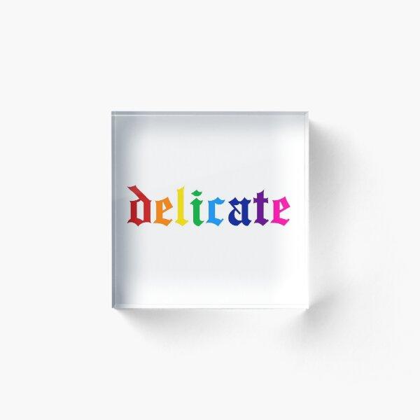 Delicate LGBT Pride Acrylic Block