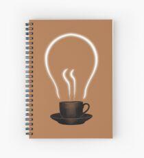 Cuaderno de espiral El poder del cafe