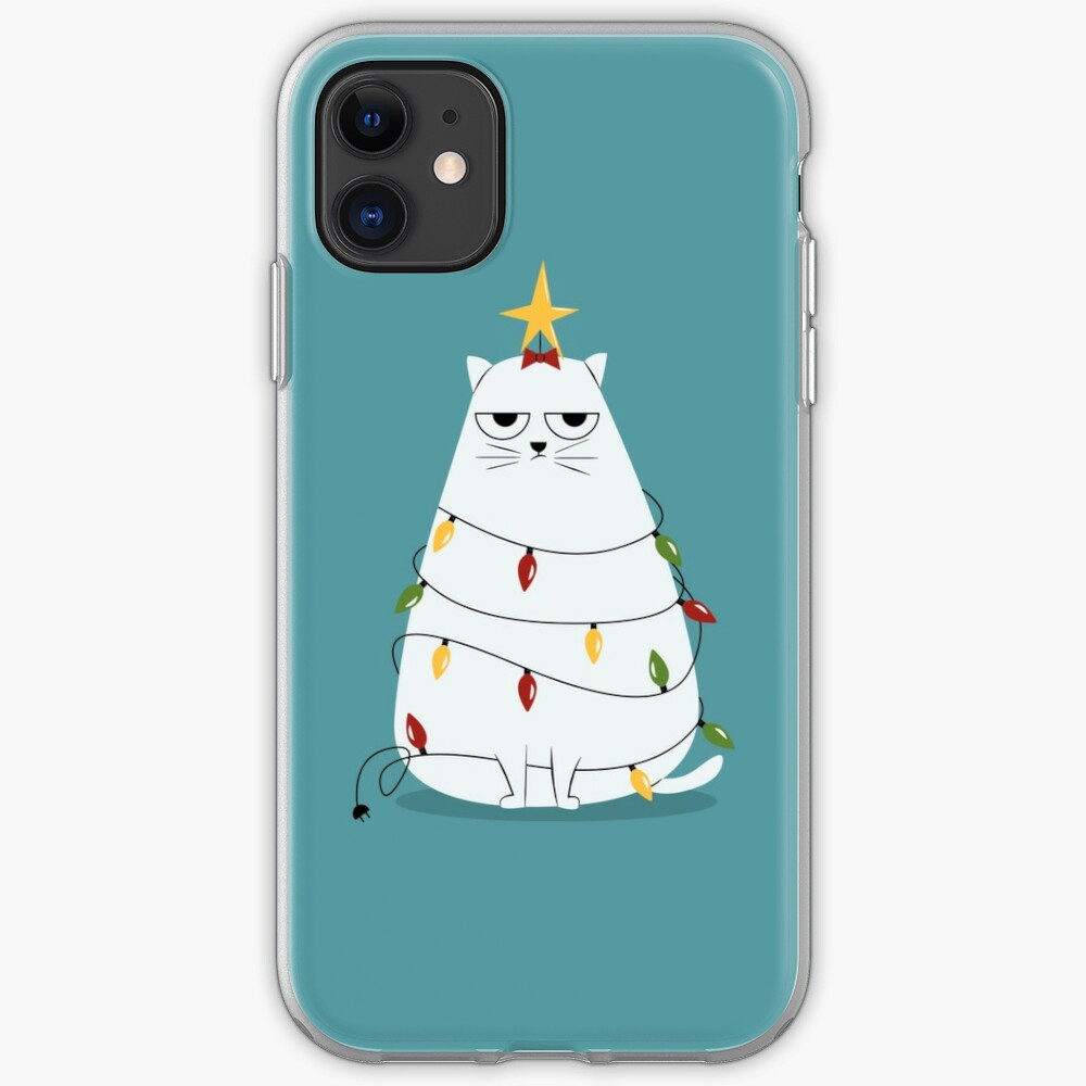 Grumpy Christmas Cat iPhone Case & Cover